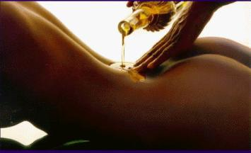 Sexy massage with oil