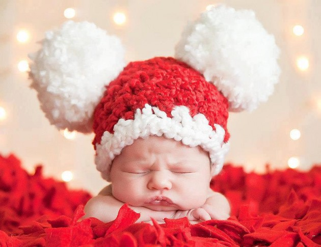 cute baby with red cap