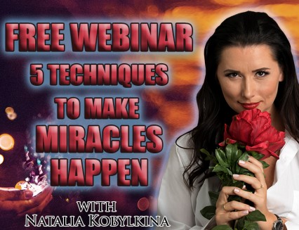 FREE WEBINAR! 5 technique to make miracles happen!