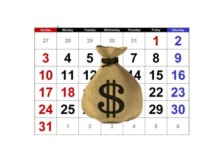 5 Year Money Calendar $14.95